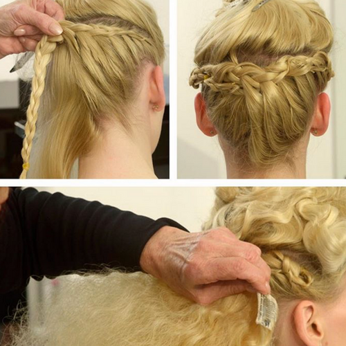 Wedding clip in hair extensions