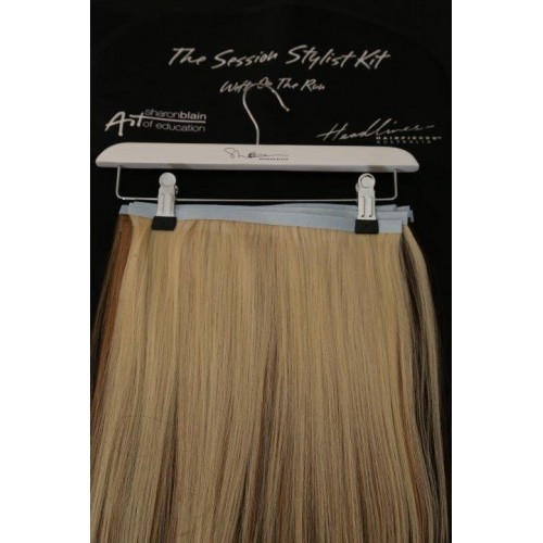 Wefts on the run hairpiece hair extensions